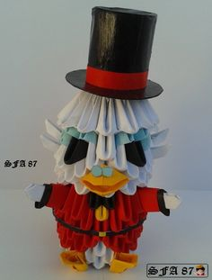 Scrooge McDuck Origami by on DeviantArt Scrooge Mcduck, Daisy Duck, 3d Origami, Quilling Designs, Projects To Try, Deviantart, Gallery, Outdoor Decor, Artist