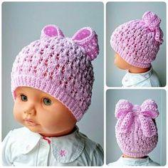 шляпки,шапочки Добро пожаловать в Одноклассники! Poncho Au Crochet, Bonnet Crochet, Crochet Baby Hats, Crochet Beanie, Crochet For Kids, Knitted Hats, Knit Crochet, Baby Knitting Patterns, Loom Knitting