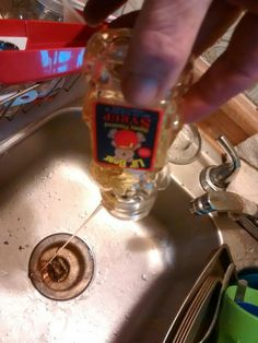 """Best use of Clarks Honey Farm Inc """"manmade honey""""-pour it down the drain then recycle bottle to hold 100% Natural Honey"""