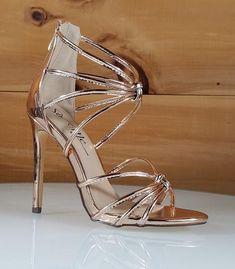 fbe2d4bfa24a So Me Janal Rose Gold Tube Strap High Heel Sandal Shoe. Totally Wicked  Footwear