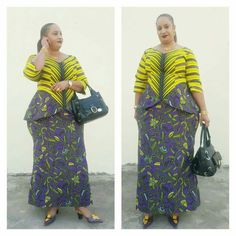 Ankara skirt and blouse style for wedding:Check out 55 stunning and creative ankara skirt and blouse you should Try out(Updated) African Maxi Dresses, Latest African Fashion Dresses, African Attire, Ankara Skirt And Blouse, Style Africain, African Traditional Dresses, Kitenge, African Women, Dress Patterns