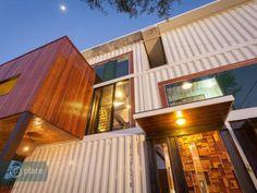 Exterior details, container home, 8 Jaora Street, Graceville