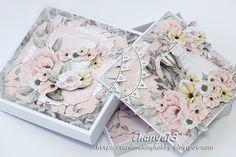 Wedding Paper, Wedding Cards, Diy And Crafts, Paper Crafts, Mixed Media Cards, Exploding Boxes, Pretty Cards, Atc, Vintage Cards