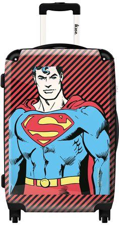 Comics suitcase Superman portrait