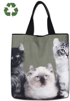 Kitten Cat Kitty Tapestry Tote Bag Purse Handbag Gift Purse