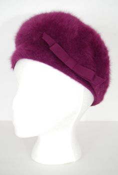 979314206b2 Reserved for Friasedesbois vintage 1960s   purple   bow   beehive   Kangol  hat   mohair   mod hat
