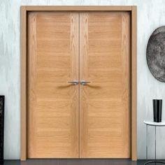 Sanrafael Lisa Flush Double Fire Door - L60 Prefinished Oak. #firedoors #fireoakdoors #internalfiredoors
