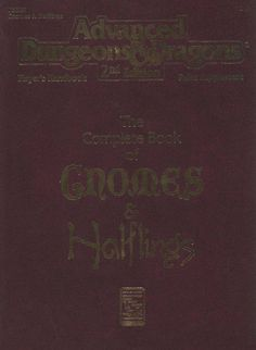 PHBR9 The Complete Book of Gnomes & Halflings (2e) | Book cover and interior art for Advanced Dungeons and Dragons 2.0 - Advanced Dungeons & Dragons, D&D, DND, AD&D, ADND, 2nd Edition, 2nd Ed., 2.0, 2E, OSRIC, OSR, d20, fantasy, Roleplaying Game, Role Playing Game, RPG, Wizards of the Coast, WotC, TSR Inc. | Create your own roleplaying game books w/ RPG Bard: www.rpgbard.com | Not Trusty Sword art: click artwork for source