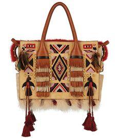 Dsquared²  Sac Twin Peaks Eskimo Chic, pompons, folk, hippie