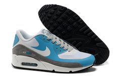 new concept 8ef18 024af Find Mens Nike Grey Blue White Air Max 90 Hyperfuse Trainers Shoes Fur  online or in Curryshoes. Shop Top Brands and the latest styles Mens Nike  Grey Blue ...