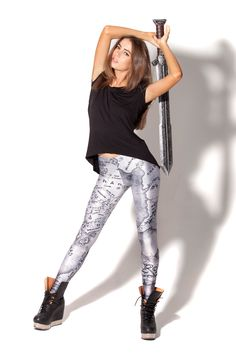 Hills of Gondor Leggings by Black Milk Clothing
