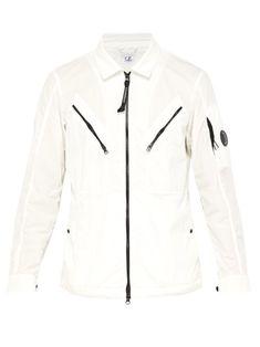 11a773c08a1 C.P. COMPANY C.P. COMPANY - LENS COTTON BLEND OVERSHIRT - MENS - WHITE.   c.p.company  cloth