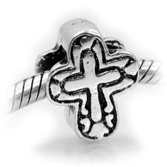 Silver Bead Spacer Charm Cross Fits Pandora Chamilia Troll Style Bracelet Pro Jewelry. $5.95. Antique Silver Finish. Fits: All major Brand Bracelets, such as Pandora, Troll, Chamilia, Carlo Biagi, Zable, and other add-a-bead bracelets.. Unthreaded Core