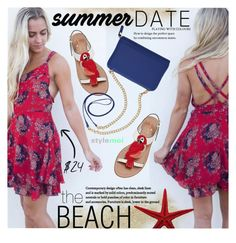 """Summer Date:The Beach"" by black-fashion83 ❤ liked on Polyvore featuring Kate Spade and TravelSmith"