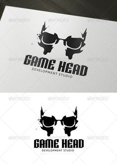 Game Head Logo — Vector EPS #games #creative • Available here → https://graphicriver.net/item/game-head-logo/3027119?ref=pxcr