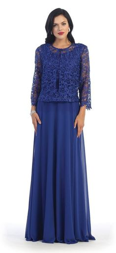 Long Mother of Bride Dresses Plus Size Formal Evening Gown Groom-The Dress Outlet