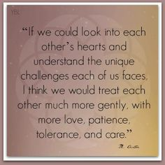 We need to look into each other's hearts...