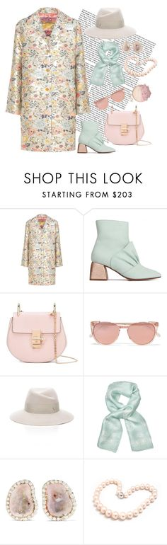 """""""H4n"""" by saltless ❤ liked on Polyvore featuring Etro, Chloé, Linda Farrow, Maison Michel, Alexander McQueen, Kimberly McDonald and Hiho Silver"""