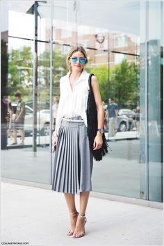The Olivia Palermo Lookbook : New York Fashion Week Spring 2015: Olivia Palermo at Tibi