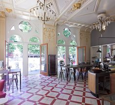 Discover Supersense in Vienna, Austria: A neo-Gothic mansion now houses a wunderkammer of analog tech that hits on all the senses. Gothic Mansion, Paper Factory, Espresso Bar, Old Pallets, Old Wood, Beautiful Buildings, Mansions, Architecture, Coffeehouse