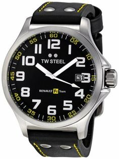 TW Steel Men's TW 670 RF1 Team Pilot Black Leather Dial Watch TW Steel. $206.50. Quartz movement. Water-resistant to 330 feet (100 M). Mineral crystals. Black dial. Stainless steel case black leather band. Save 30%!