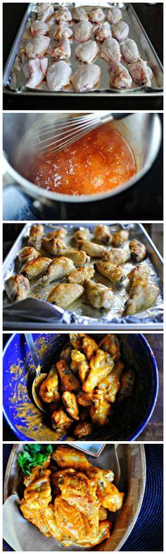Spicy Garlic Chicken Wings + The Best Blue Cheese Dip