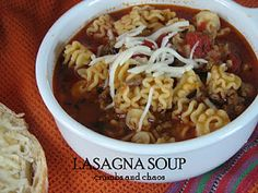 """Lasagna Soup I have a recipe I like but this one has """"cheese yum"""""""