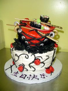 gothic food   food-goth-asian-duct tape???? — Birthday Cakes