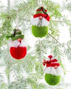 Personalized Christmas Tree Gnome Ornaments