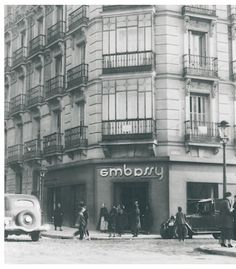 EMBASSY Tea Room in Madrid, founded in 5-Dec-1931 by Margaret Kearney Taylor (from Ireland).