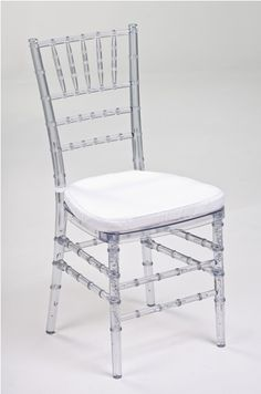 Clear Resin Chivari Chairs - Events & Tents stock