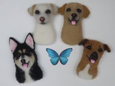 Needle felted fridge magnet Pet replica Art Miniature  This listing is for a custom needle felted magnet sculpture of your pet ! Send me photos of your dog or cat and I will make his/her mini copy :)  This little unique wool magnet is made out of natural 100% sheep wool using the technique of needle felting.  Dimension: Length: 1.97 inches (5cm) Height: 3.14 inch (8cm)  Each sculpture is one of a kind and makes a unique gift for everyone!  ♥♥♥100% love, 100% handmade! ♥♥♥   Payment and…