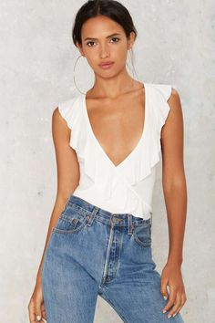 Frilled to Pieces Plunging Top | Shop Clothes at Nasty Gal!