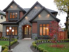 architecture model display Cool Modern Farmhouse Exterior Designs Displaying Classic Comfort in Today Style - Modern house with new farmhouse exterior design pulling out country charm and warm welcoming display Image 29 Farmhouse Architecture, Modern Farmhouse Exterior, Modern Architecture, Craftsman Exterior, Dream House Exterior, Exterior House Colors, Home Designs Exterior, Stone Exterior Houses, Classic House Exterior