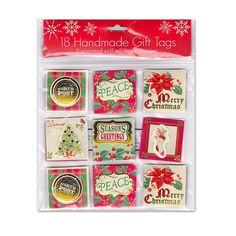 18 Handmade Christmas Holiday Gift Tags - 6 Assorted Self Adhesive Designs >> Insider's special review you can't miss. Read more  : Christmas Gifts