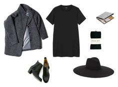 """""""Witch"""" by andreaceja ❤ liked on Polyvore featuring Monki, Gargyle, Yves Saint Laurent and Falke"""