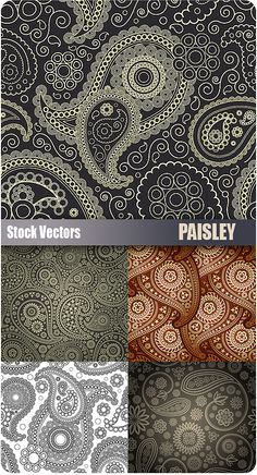 Paisley Vector Patterns - Set of 5 paisley vector patterns and backgrounds in EPS format for Illustrator. Really great quality paisley patterns and they are Paisley Art, Paisley Design, Paisley Pattern, Pattern Art, Pattern Design, Free Pattern, Paisley Wallpaper, Pattern Paper, Design Blog