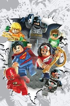 DC Comics will be rolling out 22 LEGO variant covers for its comics in November to coincide with the LEGO Batman video game launching. Lego Justice League, Batman Vs, Batman Em Lego, Superman, Comic Book Heroes, Comic Books Art, Dc Heroes, Best Dc Comics, Marvel Dc