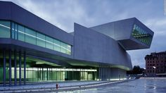 MAXXI museum, Rome, 2009 – Hadid won an international design competition to build Rome's contemporary art gallery. Featuring overlapping limbs, MAXXI has often been held up as her finest work, awarded a Stirling prize in 2010 for British architects.