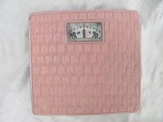 Pink Bathroom Scales Vintage 1950s -- I actually own one of these . . .