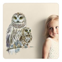 Woodland Owls Movable, PVC-Free Wall Decals in collaboration with Ko-Ko-Ko Russia for Chocovenyl