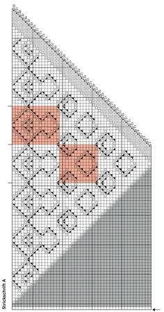 Lace-Dreieckstuch im Ajour-Muster