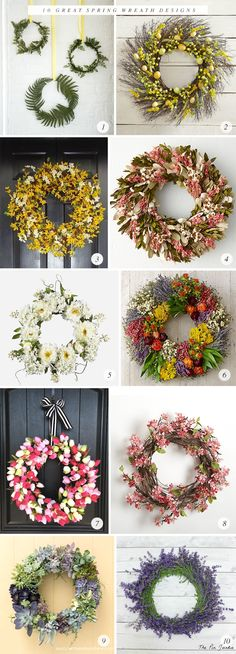 10 Great Spring Wreath Designs
