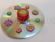 Manualidad de reciclaje con un cd