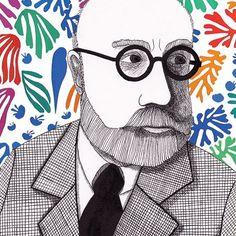 Portrait of Henri Matisse by Ninatown http://ninavandevondervoort.nl/blog/