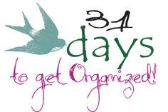 31 Days to get Organized