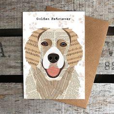 Golden Retriever Greetings Card by SimonHartArtist on Etsy