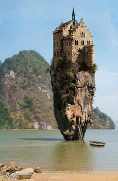 Zombie Proof  :)    just pull up the ladder........I want this place LOL