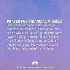 Prayer for finances Prayer Times, Prayer Scriptures, Bible Prayers, Faith Prayer, God Prayer, Power Of Prayer, Bible Verses, Healing Prayer, Night Prayer