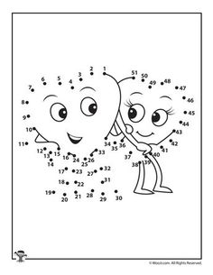 Printable Valentine's Day Dot to Dot